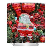 Santa Claus Balloon Shower Curtain