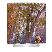 Santa Claus In The Snow Shower Curtain