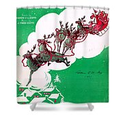 Santa Claus Is Comin To Town Shower Curtain