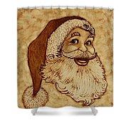 Santa Claus Joyful Face Shower Curtain