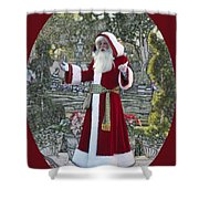 Santa Claus Walt Disney World Oval Shower Curtain