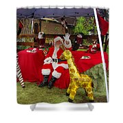 Santa Clausewith The Animals Shower Curtain