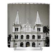 Santa Cruz Basilica In Cochin Shower Curtain
