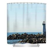 Santa Cruz California Lighthouse Shower Curtain
