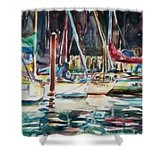 Santa Cruz Dock Shower Curtain