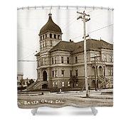Santa Cruz High School On Walnut Street. Circa 1910 Photo By Besaw Shower Curtain
