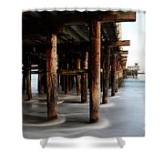 Santa Cruz Pier California Shower Curtain