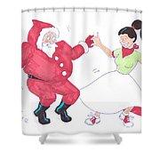 Santa Dances Shower Curtain