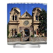 Santa Fe - Basilica Of St. Francis Of Assisi Shower Curtain