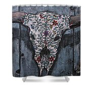Santa Fe Bull Skull Shower Curtain