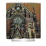 Santa Fe Cathedral Shower Curtain