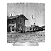 Santa Fe Railway, 1883 Shower Curtain