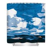 Santa Fe Skies Shower Curtain