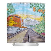 Santa Fe Super Chief Train Shower Curtain