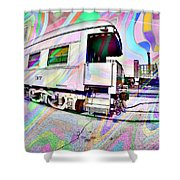 Santa Fe Train Number 37 Shower Curtain