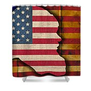 Santa Flag Shower Curtain