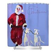 Santa Grey Shower Curtain