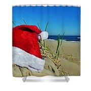 Santa Hat Dunes 1 12/17 Shower Curtain