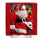 Santa Is Ready Shower Curtain