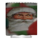 Santa Is Watching Shower Curtain