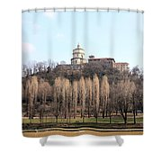 Santa Maria Del Monte Church Shower Curtain