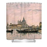 Santa Maria Della Salute And The Dogana Shower Curtain