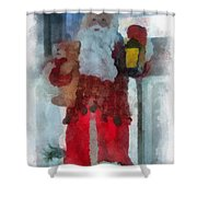 Santa Merry Christmas Photo Art 02 Shower Curtain