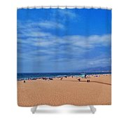 Santa Monica Beach California Shower Curtain