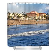 Santa Monica Beach View  Shower Curtain