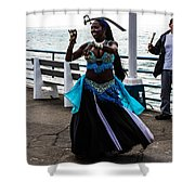 Santa Monica Belly Dancer Shower Curtain