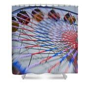 Santa Monica Pier Ferris Wheel At Dusk Shower Curtain