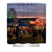 Santa Monica Pier I By Diana Sainz Shower Curtain