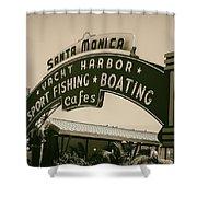 Santa Monica Pier Sign Shower Curtain