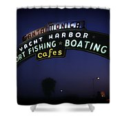 Santa Monica Pier Sign Shower Curtain