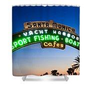 Santa Monica Pier Sign Shower Curtain by Paul Velgos