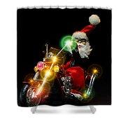 Santa Motoring Shower Curtain