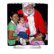 Santa Poses With Fans At Annual Christmas Parade Eloy Arizona 2004 Shower Curtain