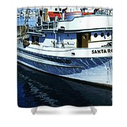 Santa Rosa Purse-seiner Fishing Boat Monterey Bay Circa 1950 Shower Curtain