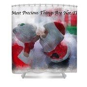 Santa The Most Precious Photo Art Shower Curtain