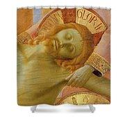 Santa Trinita Altarpiece Shower Curtain