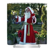 Santa Walt Disney World Shower Curtain