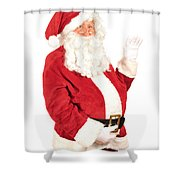 Santa Waving Shower Curtain