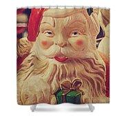 Santa Whispers Vintage Shower Curtain by Toni Hopper