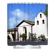 Santa Ynez Mission Solvang California Shower Curtain