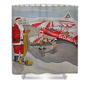 Santa's Airport Shower Curtain