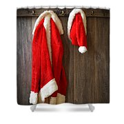 Santa's Coat Shower Curtain