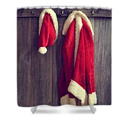 Santa's Hat And Coat Shower Curtain