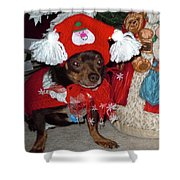 Santa's Helper Shower Curtain
