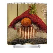 Santas Nose Shower Curtain