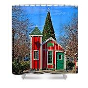 Santas Workshop Shower Curtain